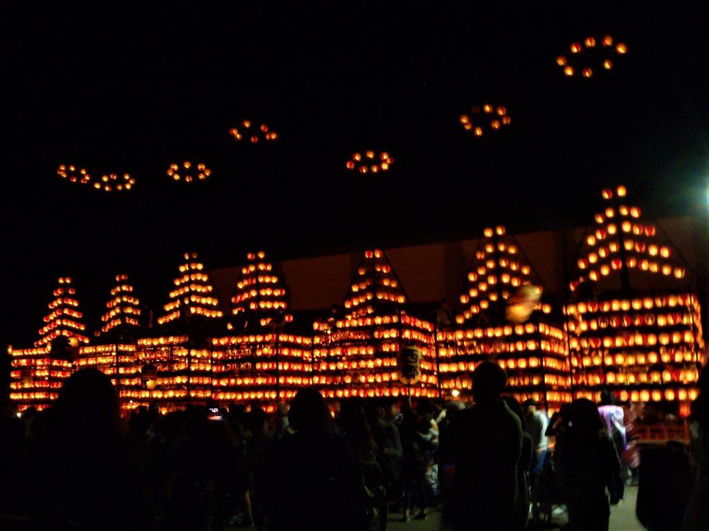 松川町提灯祭りの写真
