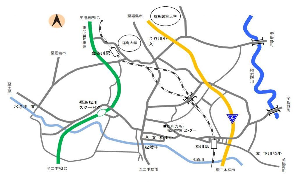 松川町アクセスマップの画像
